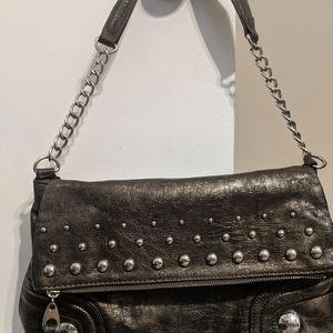 Nicole studded metallic handbag